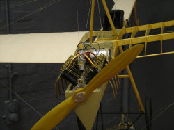 ¼ size replica model of monoplane